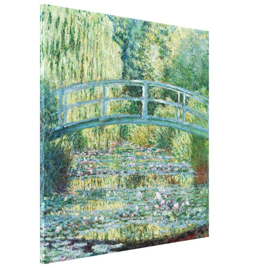 Japanese Bridge Monet Garden Painting Canvas Print