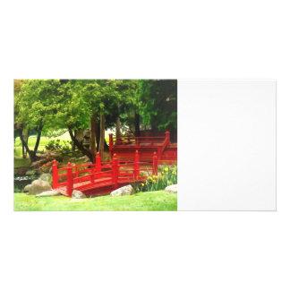 Japanese Bridge Customized Photo Card