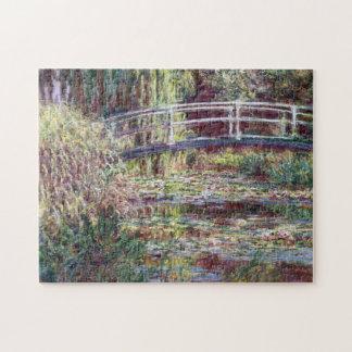 Japanese Bridge Symphony in Rose Monet Fine Art Puzzle
