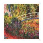 Japanese Bridge Water Lily Pond by Claude Monet Canvas Print