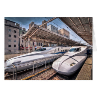 Japanese Bullet Trains at Tokyo Station Card