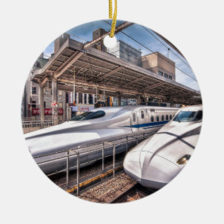 Japanese Bullet Trains at Tokyo Station Christmas Ornament
