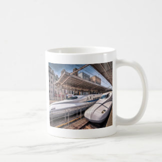 Japanese Bullet Trains at Tokyo Station Coffee Mug