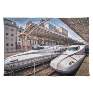 Japanese Bullet Trains at Tokyo Station Placemat