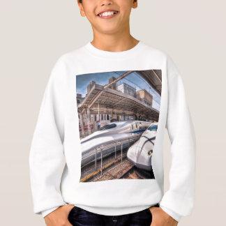 Japanese Bullet Trains at Tokyo Station Sweatshirt