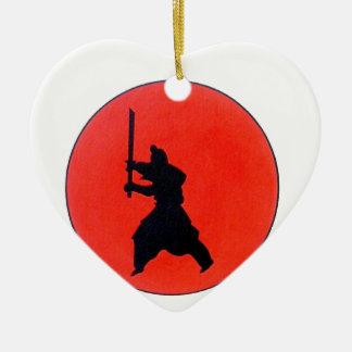 Japanese Bushido Ceramic Heart Decoration