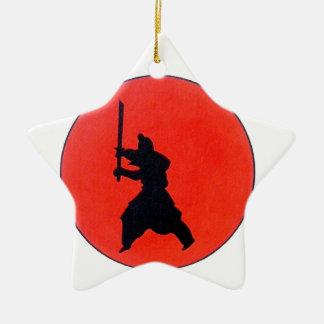 Japanese Bushido Ceramic Star Decoration