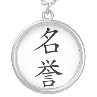 Japanese Bushido Honour Kanji Necklace