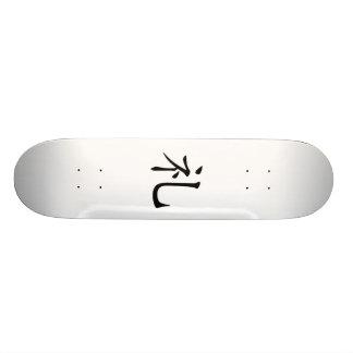 Japanese Bushido Morality Kanji Skateboard