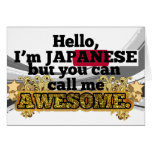 Japanese, but call me Awesome Greeting Card