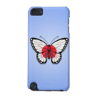 Japanese Butterfly Flag on Blue iPod Touch (5th Generation) Cover