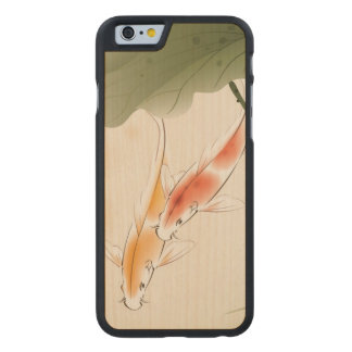 Japanese Carp fishes swimming in lotus pond Carved® Maple iPhone 6 Case
