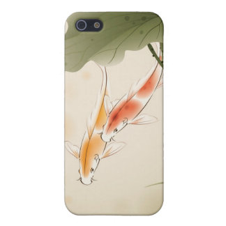 Japanese Carp fishes swimming in lotus pond iPhone 5 Cases