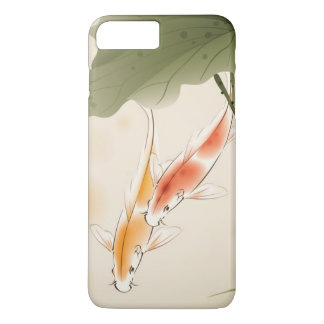 Japanese Carp fishes swimming in lotus pond iPhone 8 Plus/7 Plus Case