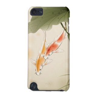 Japanese Carp fishes swimming in lotus pond iPod Touch 5G Cover