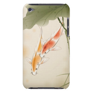 Japanese Carp fishes swimming in lotus pond iPod Touch Covers