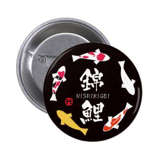 Japanese Carp (Koi or Nishikigoi) 6 Cm Round Badge