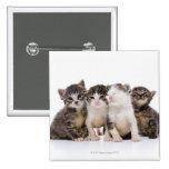 Japanese cat 15 cm square badge