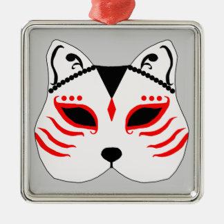 Japanese cat mask christmas ornament