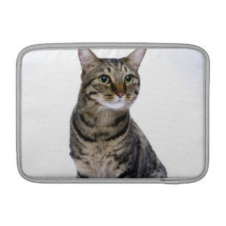 Japanese cat on white background MacBook sleeve