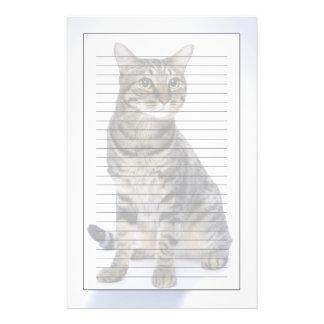 Japanese cat on white background stationery