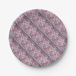 Japanese Cherry Blossom 7 Inch Paper Plate