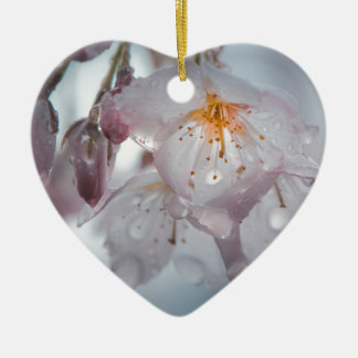 Japanese Cherry Blossom after the rains Christmas Ornament