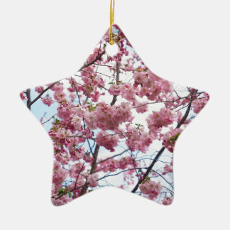 Japanese Cherry Blossom Ceramic Star Decoration