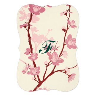 Japanese cherry blossom, gentle pink flower,girly, 13 cm x 18 cm invitation card
