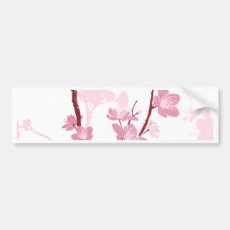 Japanese cherry blossom, gentle pink flower,girly, bumper sticker