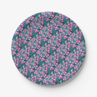 Japanese Cherry Blossom Painting 7 Inch Paper Plate