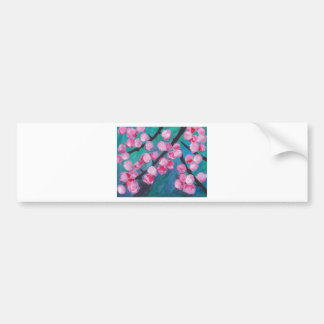 Japanese Cherry Blossom Painting Bumper Sticker