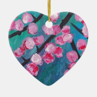 Japanese Cherry Blossom Painting Christmas Ornament