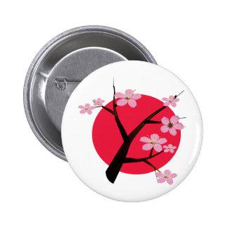 Japanese Cherry Blossom Tattoo 6 Cm Round Badge