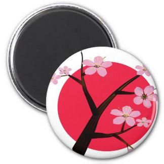 Japanese Cherry Blossom Tattoo 6 Cm Round Magnet
