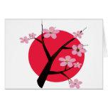 Japanese Cherry Blossom Tattoo Card