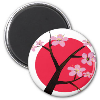 Japanese Cherry Blossom Tattoo Magnet