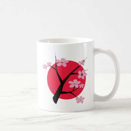 Japanese Cherry Blossom Tattoo Coffee Mug