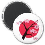 Japanese Cherry Blossom Tattoo Refrigerator Magnet