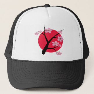 Japanese Cherry Blossom Tattoo Trucker Hat