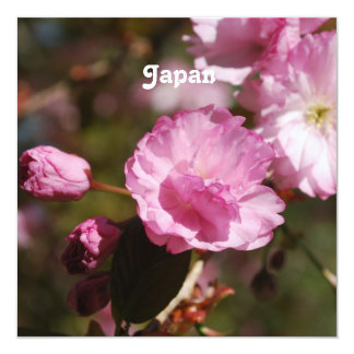Japanese Cherry Blossoms 13 Cm X 13 Cm Square Invitation Card