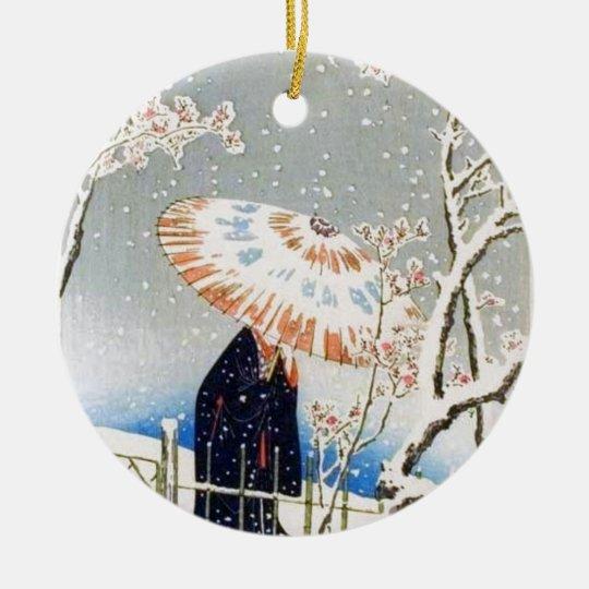 Japanese Cherry Blossoms Christmas Ornament