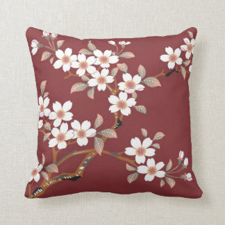 Japanese Cherry Blossoms Throw Pillow