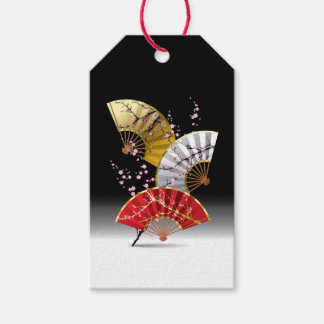 Japanese Cherry Fans Pack Of Gift Tags