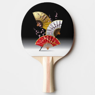 Japanese Cherry Fans Ping Pong Paddle