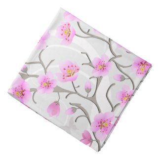 Japanese Cherry Flowers Bandana