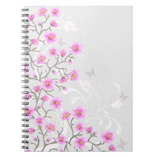 Japanese Cherry Flowers Notebook