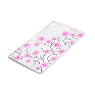 Japanese Cherry Flowers Pocket Journal