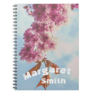 Japanese cherry notebook with your name