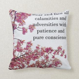 Japanese Cherry Throw Pillow